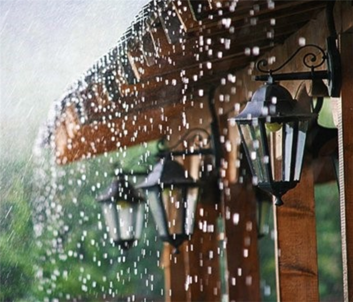 House in the rain